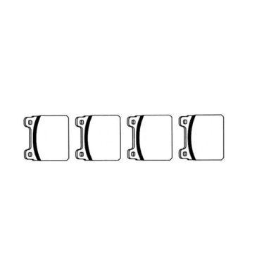 Plaquettes de frein avant Golf 1 1100, 1300 et 1500