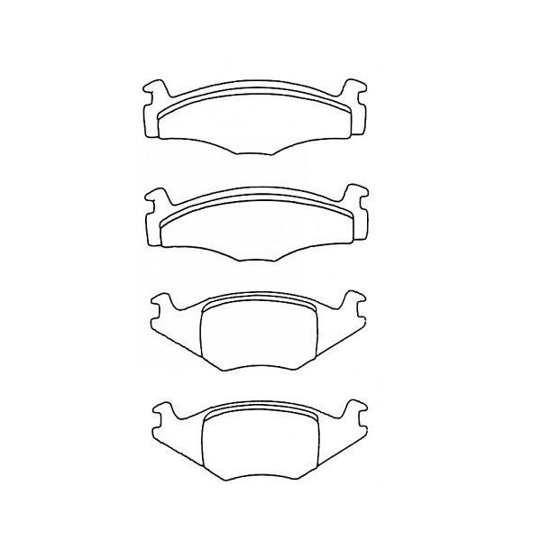 Plaquettes de frein avant Golf 1 GTI 1,6 EG et 1,8 DX