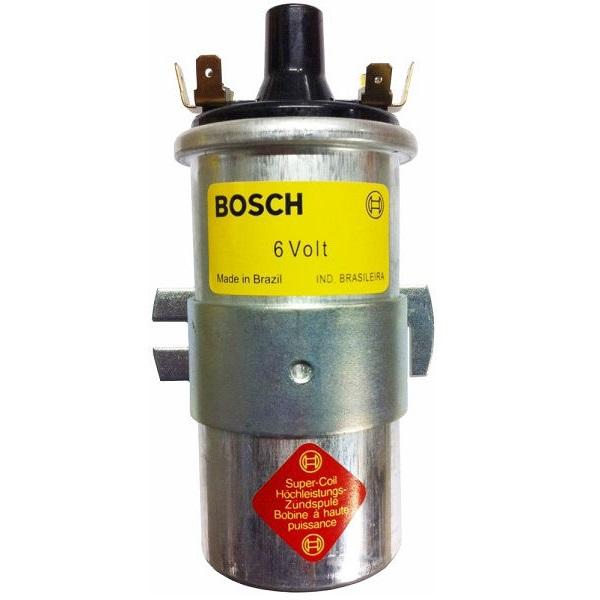 Bobine bleue d'allumage 6 V Bosch isolation en bakélite pour coccinelle