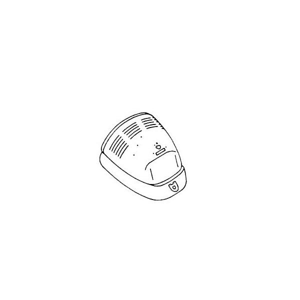 Capot arrière coccinelle 1200-1300 8/67-7/75 avec grille de ventilation