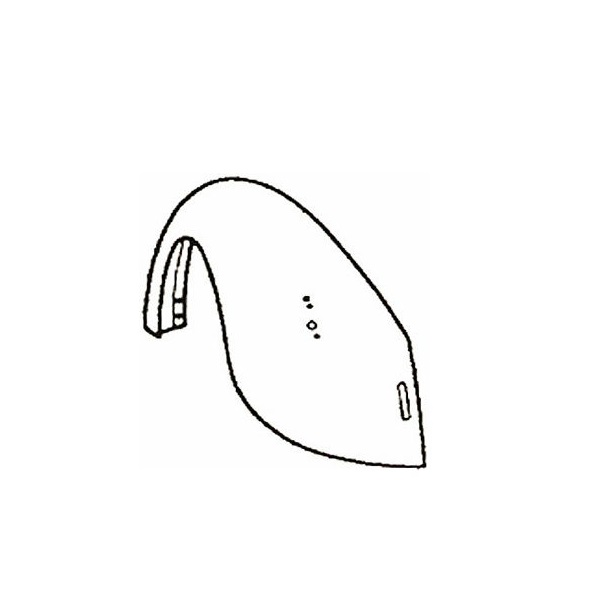 Aile arrière gauche 1200 -7/73 et 1300 -8/67