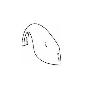 Aile arrière gauche coccinelle 1300 -1302 8/67-7/73