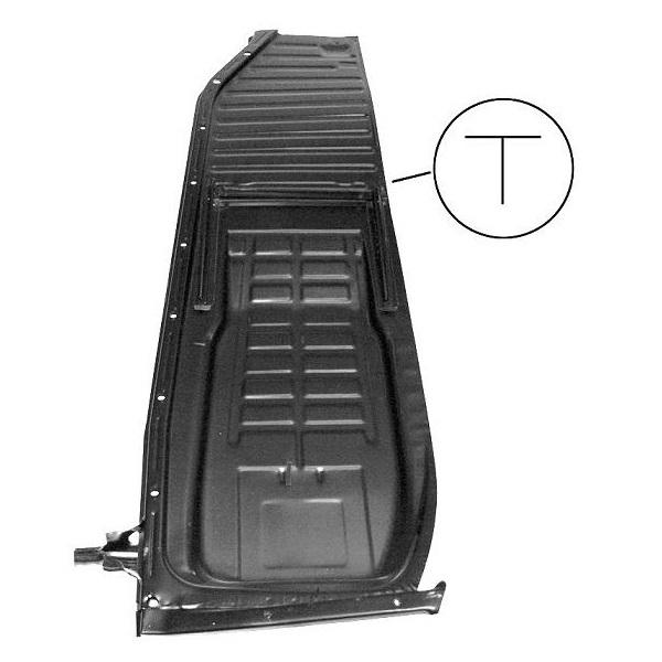 Demi-plancher complet gauche coccinelle 1302 (rail en T)