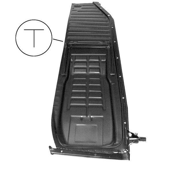 Demi-plancher complet droit coccinelle 1302 (rail en T)