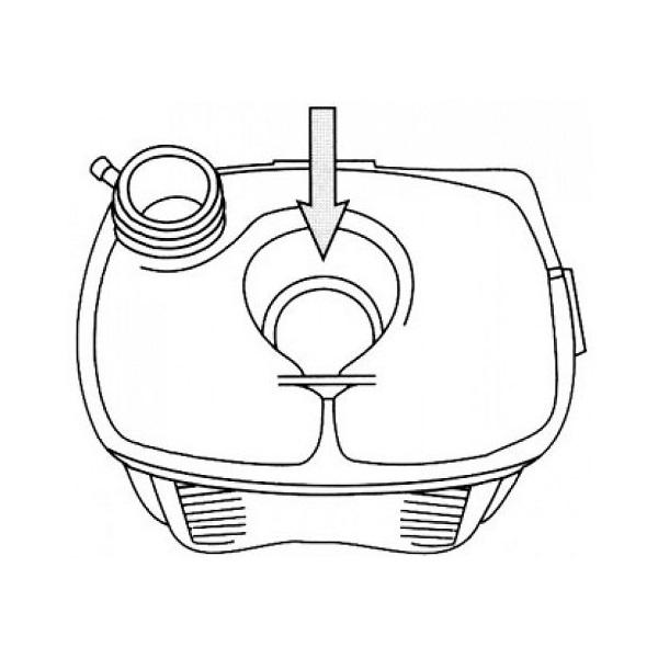 Vase d'expansion pour Golf 1 sans trou de sonde et sans bouchon