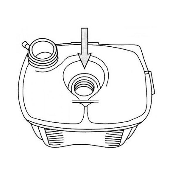 Vase d'expansion pour Golf 1 avec trou de sonde et sans bouchon