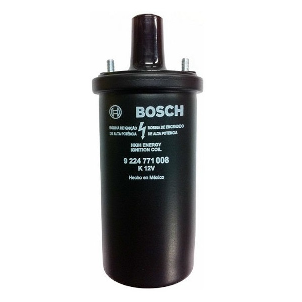 Bobine noire d'allumage 12V Bosch à bain d'huile Golf 1