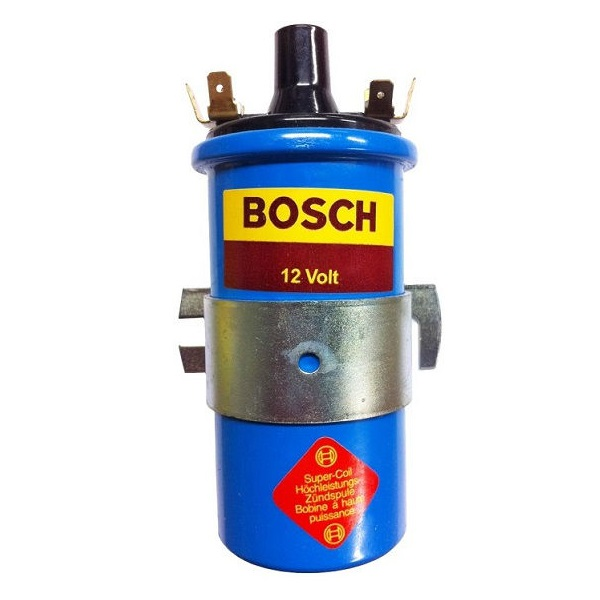 Bobine bleue d'allumage 12V Bosch isolation en bakélite Golf 1