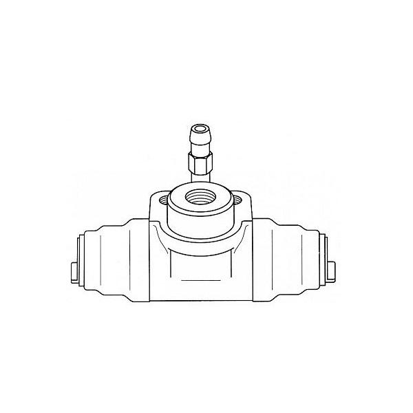Cylindre de roue en fonte avec régulateur de pression 17,46 mm pour Golf 1