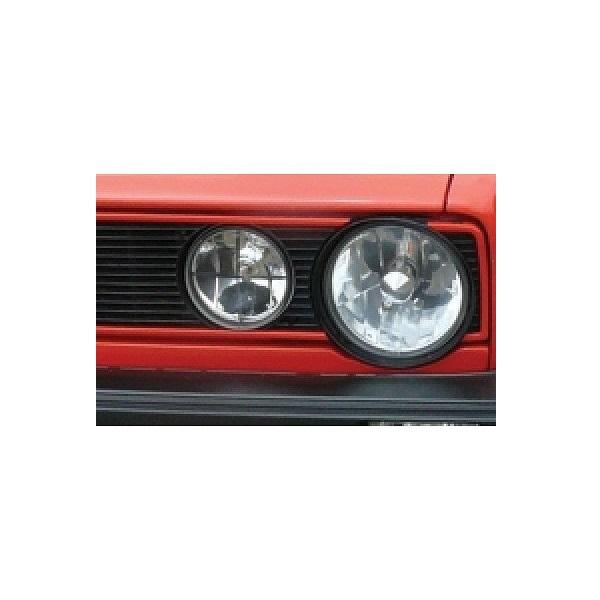 Set de 4 baguettes aluminium rouge sur calandre type GTI pour Golf 1