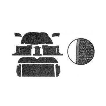 Kit moquette standard noire ( 10 pièces ) Golf 1 3 portes