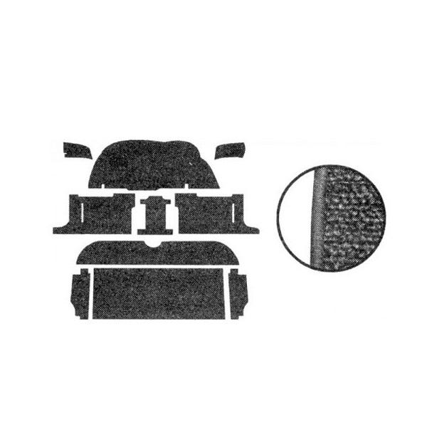 Kit moquette standard noire ( 10 pièces ) Golf 1 5 portes